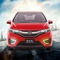 Светодиодные фары дневного света Для Honda Fit 2016 2017 Версия США ПЕРЕДНИЕ Противотуманные Фары крышка фары включать свет ночью свет