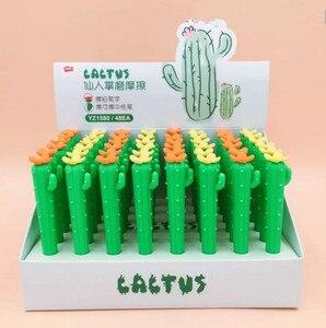 Image 3 - 48 sztuk Kawaii Food Erasers Lot śliczne kaktus kukurydza marchew gumka do zmazywalny żel długopis i ołówki wielofunkcyjne przybory szkolne dla dzieci