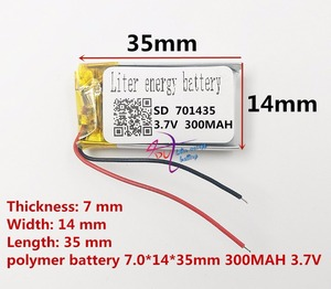 Image 2 - Najlepsza bateria marki 3.7 V bateria litowo polimerowa 701435 701535 300 mAH rejestrator dźwięku bezprzewodowa mysz długopis z funkcją nagrywania