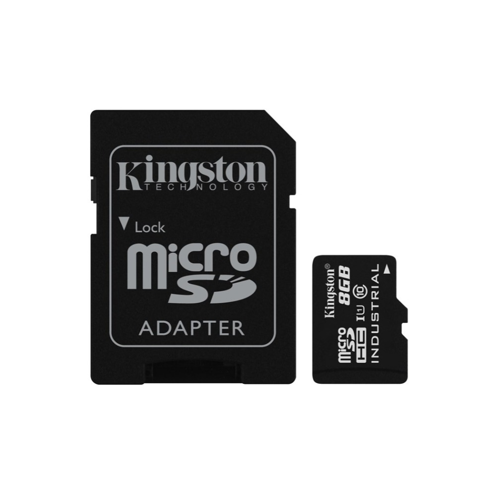 Kingston Technology Industrial Temperature MicroSD UHS-I 8GB, 8 GB, MicroSD, Class 10, UHS-I, 90 MB/s, Black