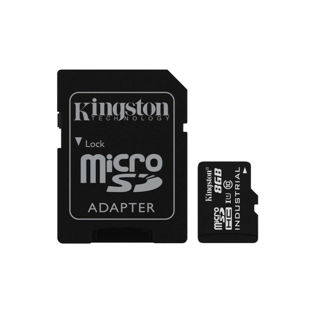 Kingston Technology Industrial Temperature MicroSD UHS-I 8GB, 8 GB, MicroSD, Class 10, UHS-I, 90 MB/s, Black