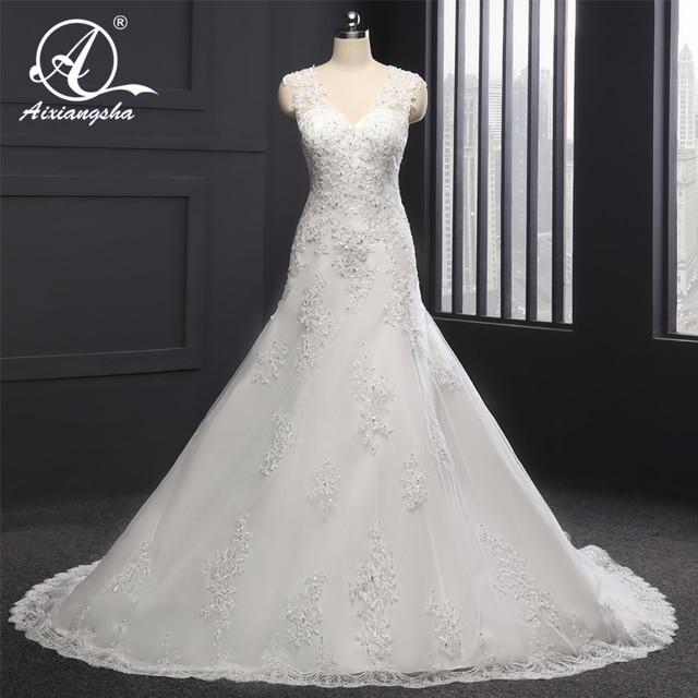 2018 Elegant Spaghetti Strap Customized Wedding Gowns Bridal Dress Bride Vestido De Noiva Sleeveless Court