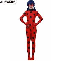 Children Clothing Sets Lady Bug Cosplay Sets Ladybug Halloween Christmas Party Custume Kids One Piece Girls