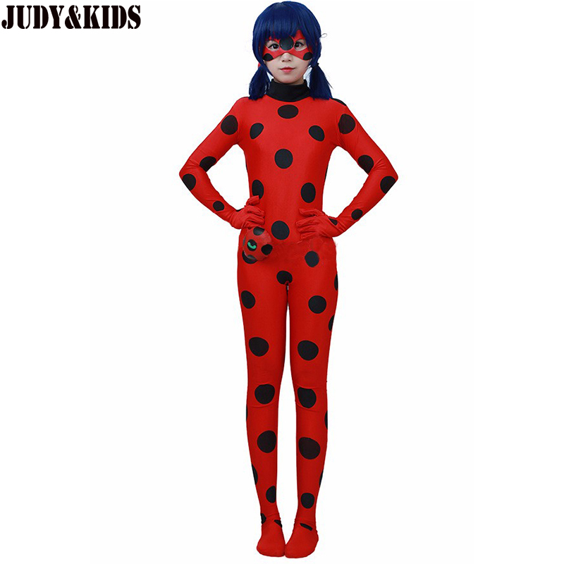 Children Clothing Sets Lady Bug Cosplay Sets Ladybug Halloween Christmas Party Custume Kids One Piece Girls