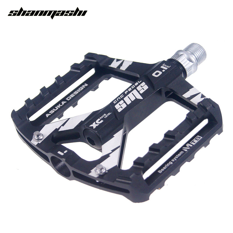 SHANMASHI Bicycle Pedal MTB Bike Aluminum Alloy Bearing Pedal Platform Cycling Outdoor Sports Road Pedal Bicycle Accessories b 055 outdoor cycling aluminum alloy bike pedal set blue