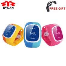 2017 Smartphone Kinder Kid Armbanduhr GSM GPRS GPS Locator Tracker Anti-verlorene Smartwatch Kind Schutz für iOS Android