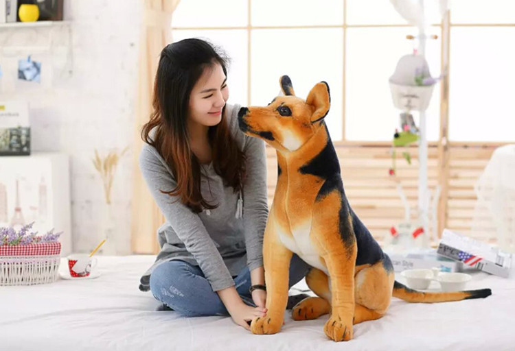 simulation animal large 85cm wolfhound dog shepherd plush toy birthday gift b0001 simulation shepherd dog polyethylene