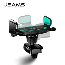 USAMS uniwersalny wylot powietrza elastyczny uchwyt samochodowy elastyczny uchwyt grawitacyjny samochodu wsparcie stojak na telefon komórkowy Gravity uchwyt samochodowy telefonu|Uchwyty i podstawki do telefonów komórkowych|   -