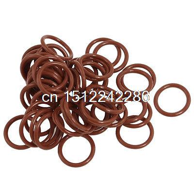 17mm x 2mm Silicone O Ring Oil Sealing Washers Grommets Red 50 Pcs o ring for eheim 2213 and 2013 canister filters red