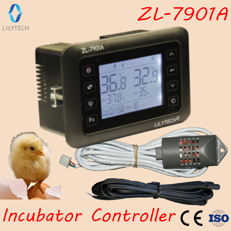 ZL-7901A, 100-240vac, pid, incubadora automática multifuncional, controlador de incubadora, incubadora de umidade de temperatura, lilytech, XM-18
