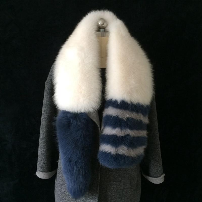 Vendite calde Genuino Sciarpa di Pelliccia di Volpe 100% Reale della Pelliccia di Fox Splicing Delle Donne Del Collare di Pelliccia Stola Scaldacollo Sciarpe Calde fox186-1
