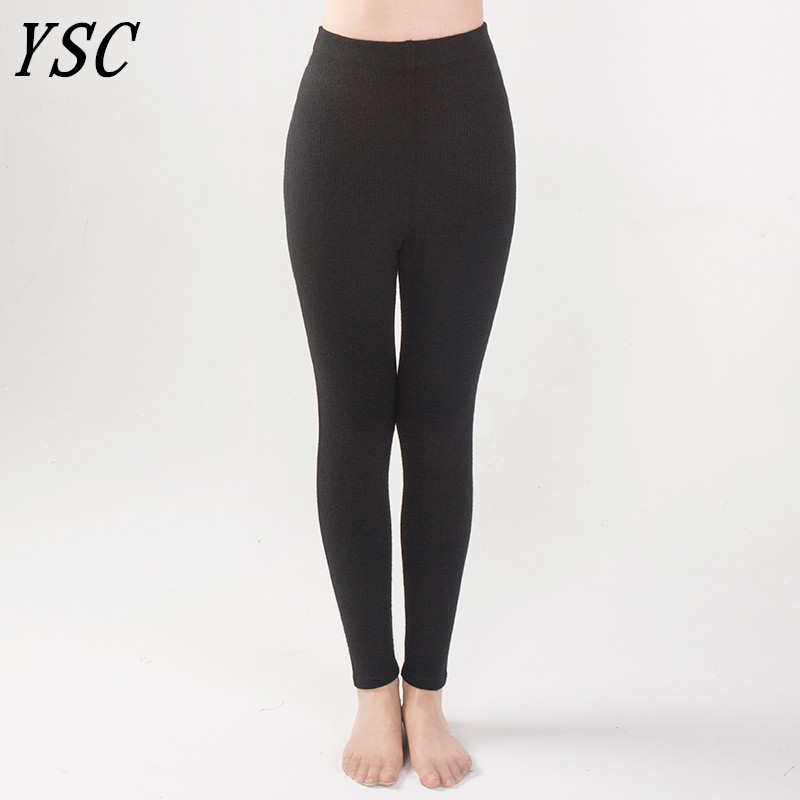 f745f3e7138728 YUNSHUCLOSET New style Momen Cashmere Wool Warm Pants Knitted Long Johns Spandex  Leggings High quality Free Shipping 2-in Leggings from Women's Clothing on  ...