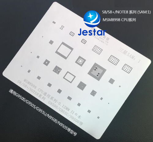 for samsung S8/S8+/NOTE8 G9500 ic BGA Stencil BGA Direct Heating Template 0.12mm Thickness, good quality not easily deformed