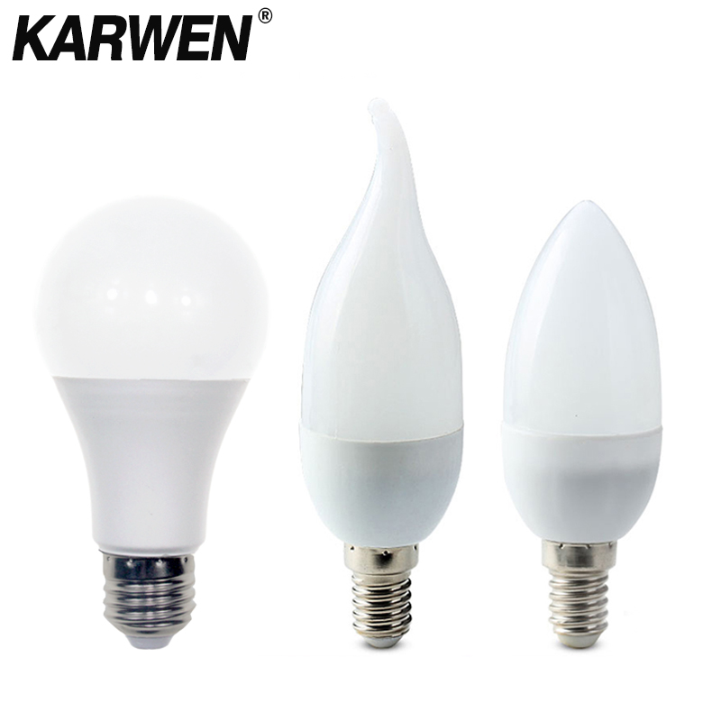 High Power LED Bulb E27 E14 Lamp 3W 5W 7W 9W 12W 15W 18W AC220 240V Cold White Warm White High Brightness Lampada LED Light