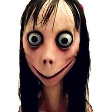 лучшая цена Game Momo Girls Sterna Cosplay Props Masks Women Men Scared Female Ghost Helmet Mask Halloween Party Fancy Ball Cosplay Mask New