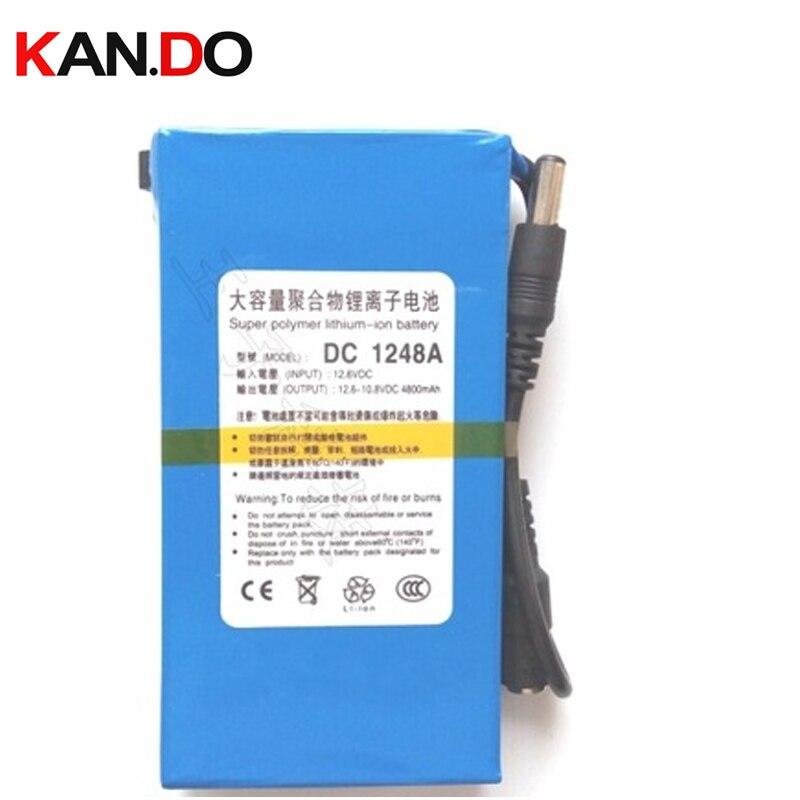 Approbation CE ROHS avec interrupteur et lumière, capacité 4800 Mah DC 12 V batterie au lithium, batterie externe intelligente caméra CCTV