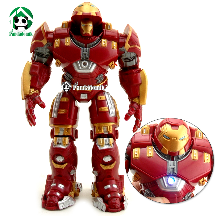 Hulkbuster Super Heroes Avengers <font><b>Action</b></font> Figure Hero Kids Toys 17cm <font><b>Action</b></font> Toy Figures Lighting Collectible Toy
