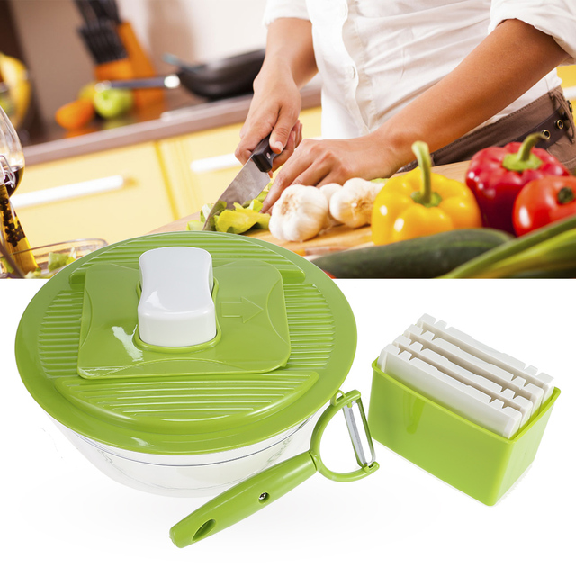 2018 New Kitchen Tools Slicer With Interchangeable Stainless Steel Blades Vegetable Cutter Ler Grater Lj127