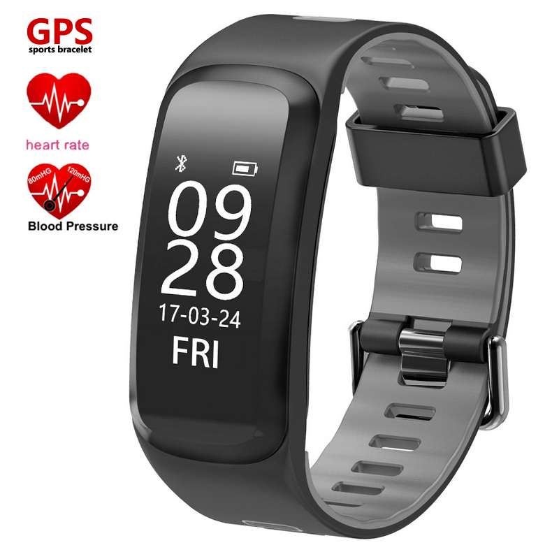 GPS Sports Sleeping Fitness Tracker Heart Rate Smart Bracelet Blood Pressure Oxygen Monitor F4 Band Wristwatch for IOS Android