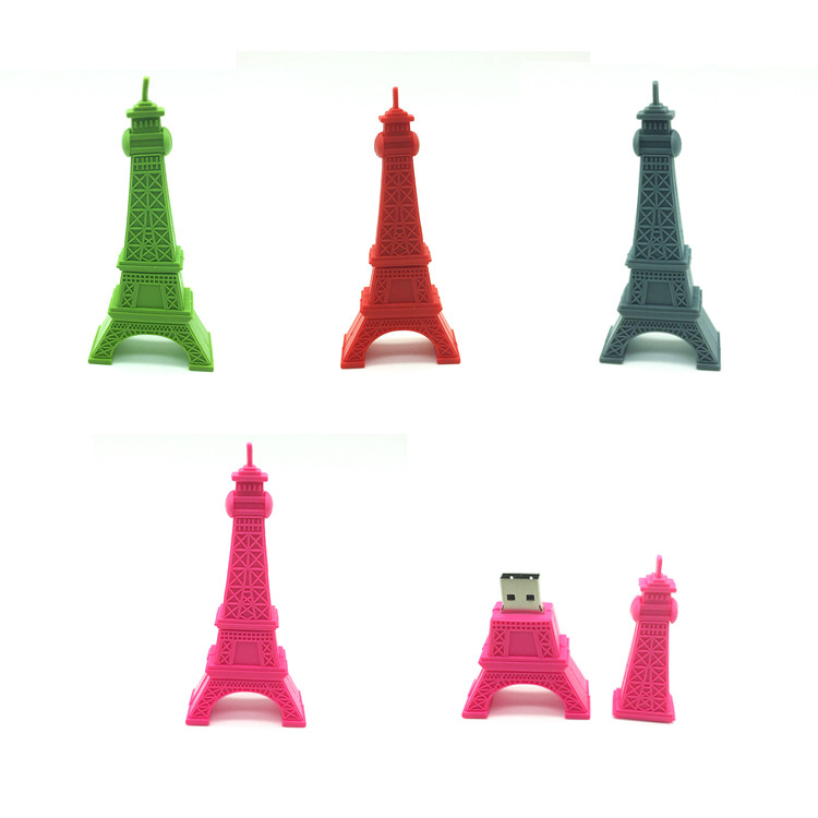 Hot Sale USB Stick Eiffel Tower 8gb 16gb Pen Drive Paris Tower U Stick USB Flash Drive 32gb Pendrive Cute Cartoon Flash Card