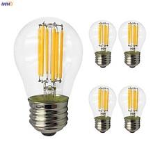 IWHD G45 светодиодный лампы накаливания Декор Винтаж лампа E27 220 В ампулы Edison лампа лампада подвесной светильник в стиле ретро светильник лампа Bombilla лампы
