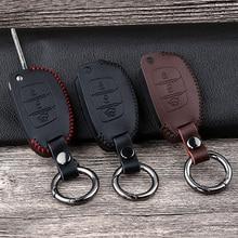 Leather Car Remote Key Case Cover For Hyundai Tucson Creta ix25 ix35 i20 i30 HB20 Elantra Verna Mistra 2015 2016 2017 2018 2019 цена 2017