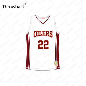 5e07cbafeca Rick Gonzalez Timo Cruz #22 Richmond Oilers Away White Red Throwback Movie Basketball  Jersey Stitched S-4XL