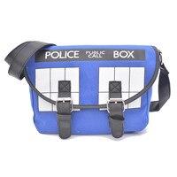 2016 Bolsos Neue Cartoon Mädchen Cross Body Schultasche Anime Dr Who Tardis Büro dame Handtasche Bolsa Feminina Police Box Messenger