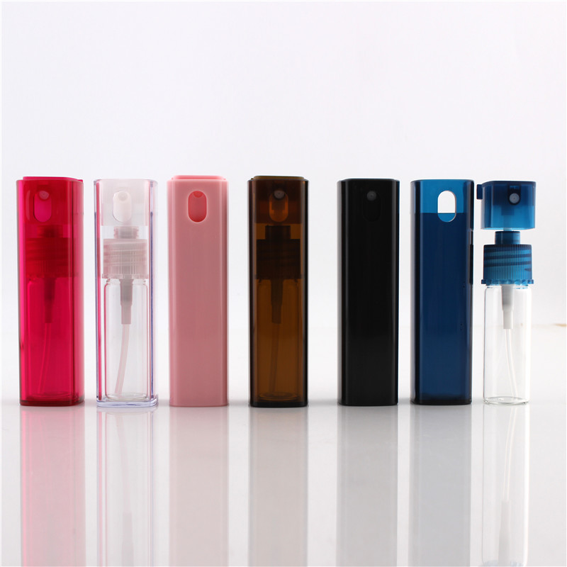 6ks Cestovní přenosné parfémové láhve spreje Prázdné kosmetické nádoby 5ml / 10ml parfém Prázdný rozprašovač plastové pero Slpp-15