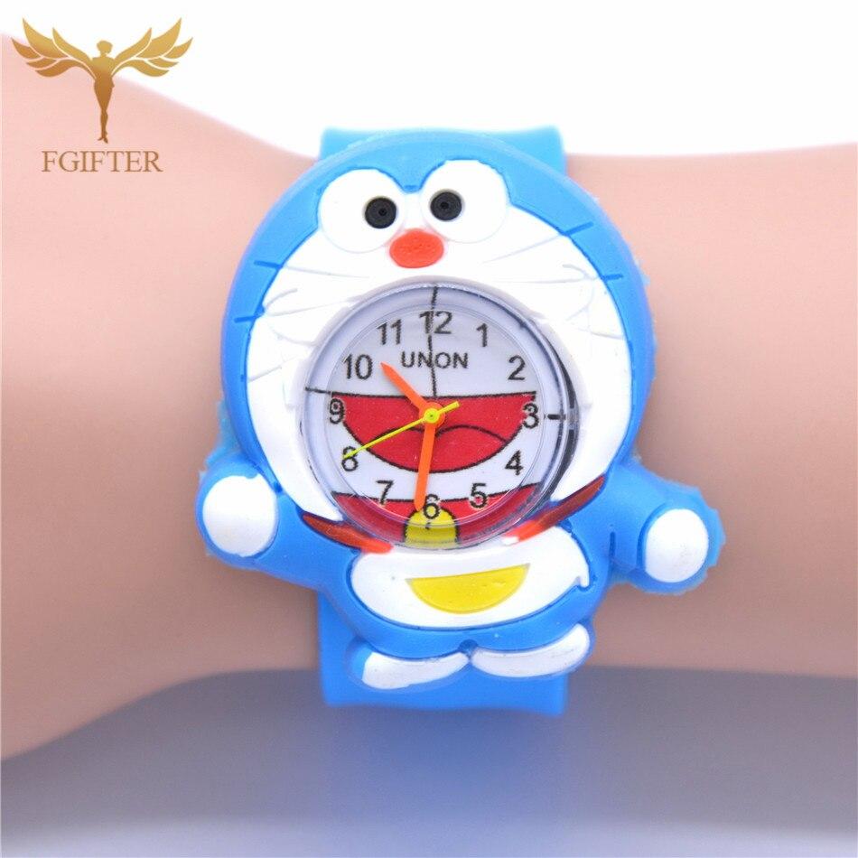 Cute Japanese Cartoon Watch Cat Silicone Watch Cute Children Wristwatches Kids Gift Baby Quartz Watches