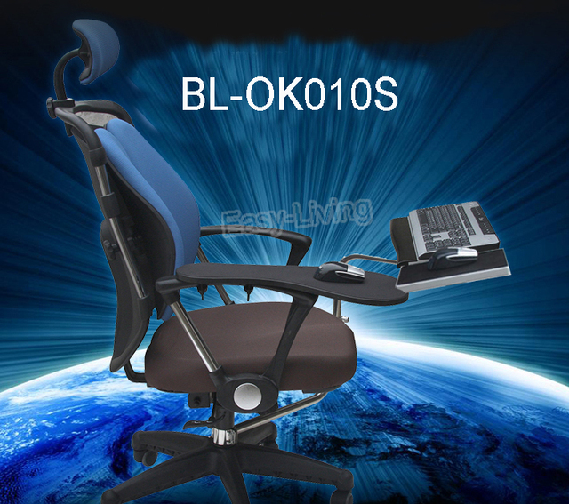 Multifunctional Full Motion Chair Cl&ing Keyboard Holder Lapdesk+Square Mouse Pad+Chair Arm Cl&ing & Multifunctional Full Motion Chair Clamping Keyboard Holder Lapdesk+ ...