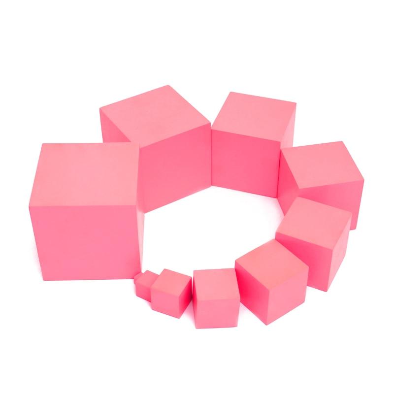 Montessori maths jouets pour enfants Montessori matériaux sensoriels mathématiques rose tour Montessori Cub blocs UB0967H