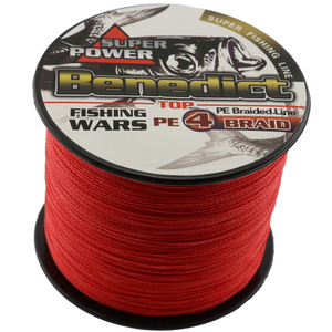 New Japan Multifilament 100% PE super strong Braided Fishing Line 500M 4strands red color 6LB-80LB fishing tackle wires