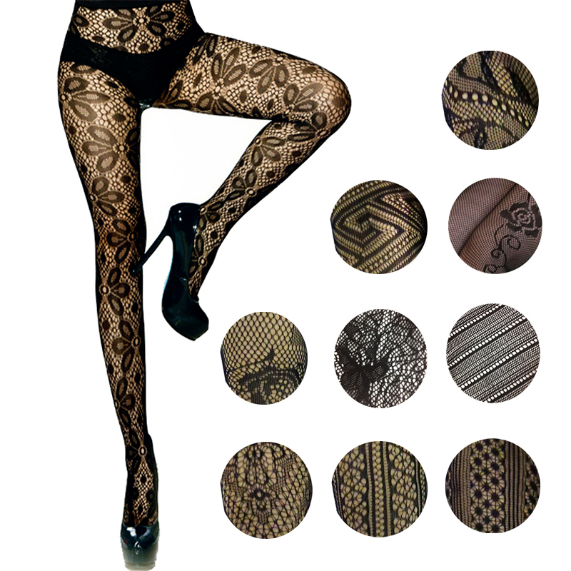 LIMSISNIW Florals/Striped Individual Women Sexy Fishnet Tights Good Elasticity Lady Slim Look Black Tatoo Tights High Quality