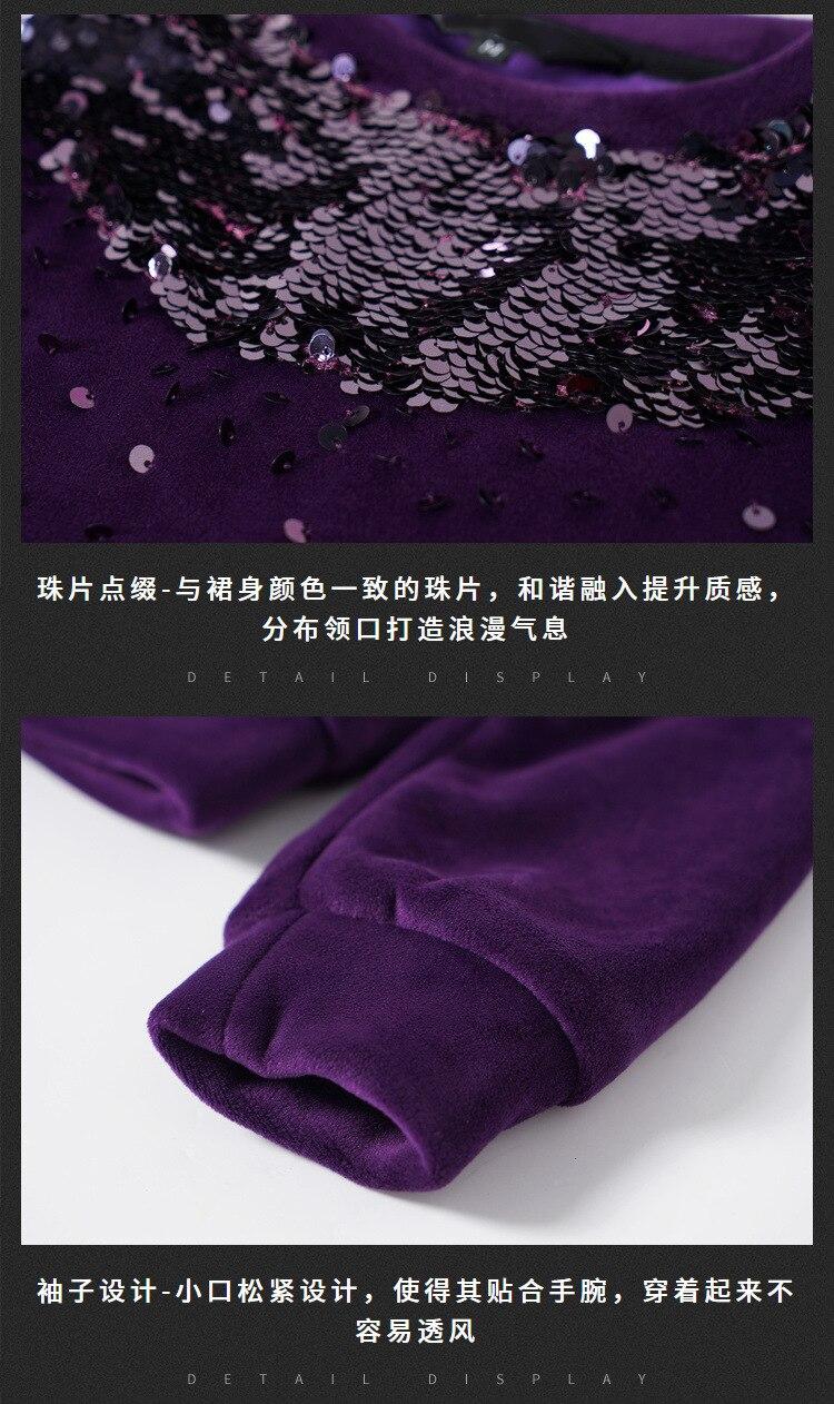 Xxxxl La Velours Dames Casual Set Fourchue Or Ensemble Plus Vêtements Jupe Paillettes Grande Tops Mode Xxxxxl Taille De Pointe Twin Bothsides HnaWg8da