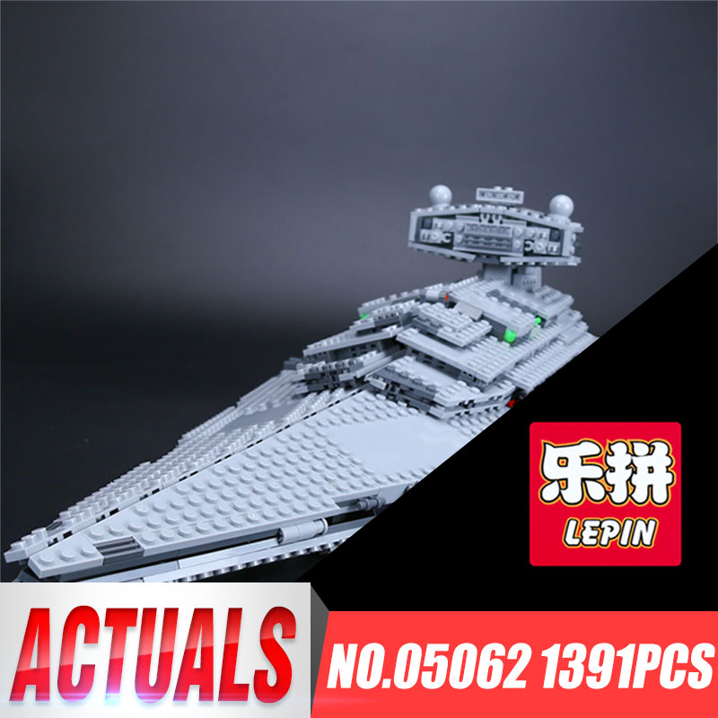 Lepin 05062 1359pcs Genuine New Star Series Wars The Star Toy Destroyer Set 75055 Building Blocks Bricks Educational Toys lepin 05028 3208pcs star wars building blocks imperial star destroyer model action bricks toys compatible legoed 75055