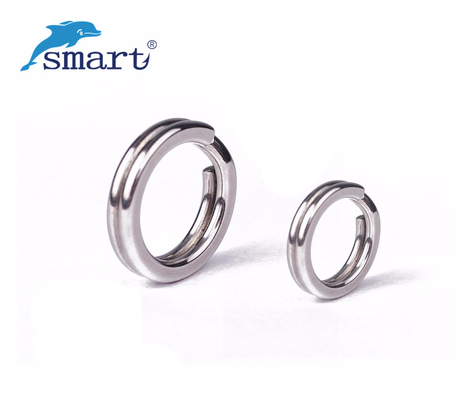 SMART 300Pcs 4/4.5/5.1/6/6.4/8mm Stainless Steel Split Rings For Blank Lure Baits Carp Rig Rings Fishing Accesorios Pesca Tackle
