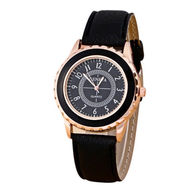 5f59d038825 Dial 2018 Feminino Wrist Loss Womens Simple Band Clock Leather Analog Faux Watches  Relogio Fashion Watch