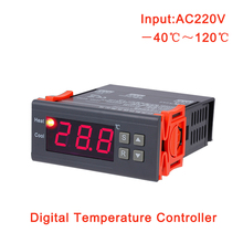 Cheap price MH-1210A 220V 10A Digital thermostat regulator temperature controller heating cooling control -40~120 celsius degree