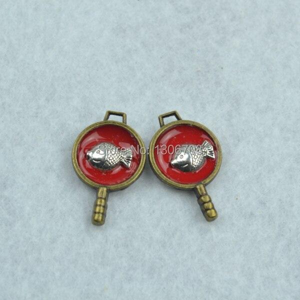 diy jewelry accessories 20pcs/lot metal antique bronze charms floating saucepan pendant fit making necklace Z42327
