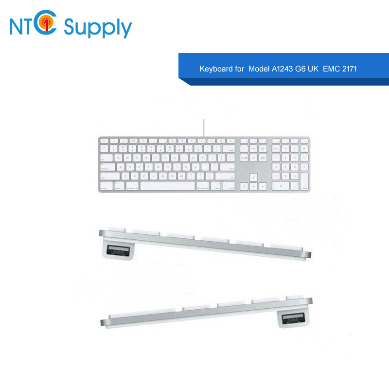 NTC Supply For A1243 USB Keyboard For G5 G6 MB110LL/B keyboard Brand New With Cable Keyboard Replament Keyboards