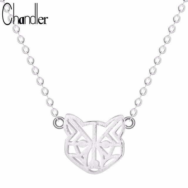 chandler 925 sterling silver outline bear pendant necklace jewelry animal lover everyday colier chunky chain suspension - Outline Of A Bear