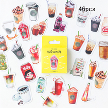 46 pcs/pack Creative Food Stickers Coke Coffee Ice Cream Drinks Decorative Scrapbooking for Diary Album Sealing Sticker