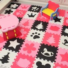 Marjinaa Детские Ева настил для игры из пенопласта головоломки мат/20 или 30/lot Централизации упражнение Плитки половик коврик для малыша, 1 см толщиной