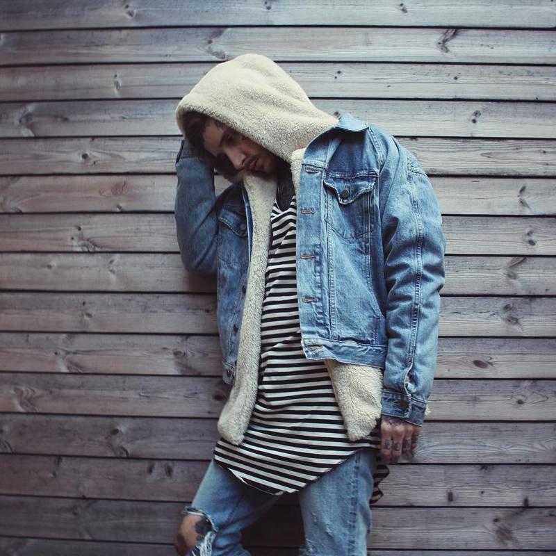 Sherpa hoodie streetwear cool kanye west clothing fashion hip hop  skateboard urban clothes Men hoodies Hooded Cardigan-in Hoodies    Sweatshirts from Men s ... fe1751776faf