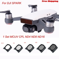 5 PCs Gimbal Camera HD Lens Filter For DJI SPARK Drone MCUV CPL ND4 ND8 ND16