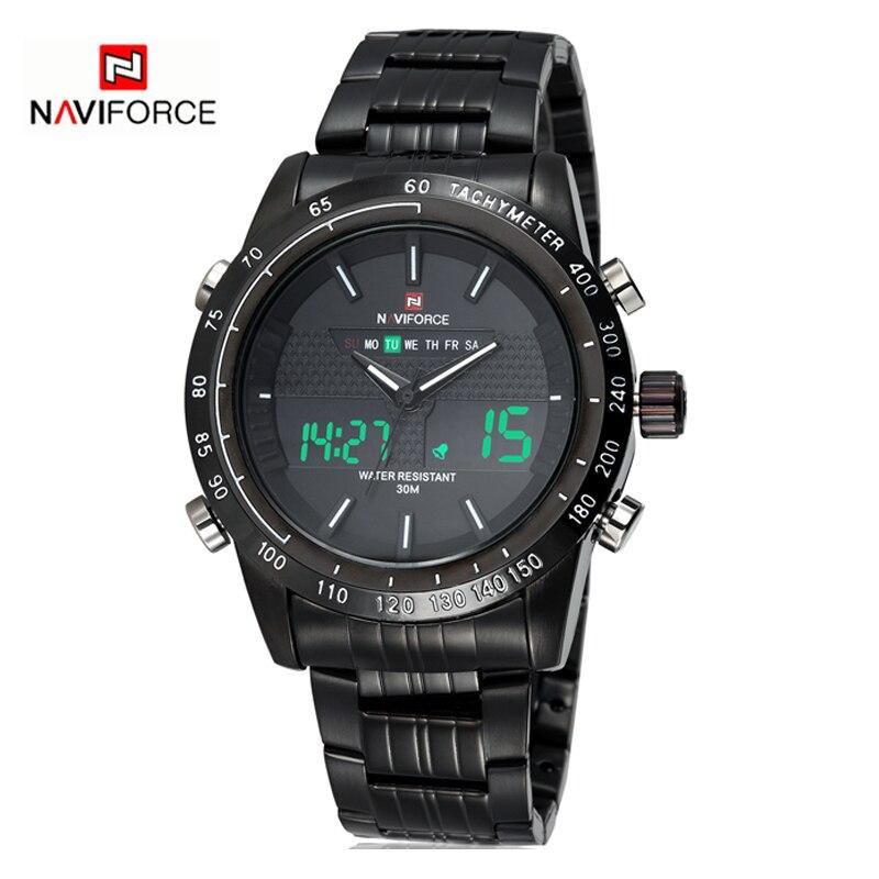 NAVIFORCE Luxury Casual นาฬิกาควอตซ์ผู้ชายนาฬิกากันน้ำนาฬิกาข้อมือทหารสแตนเลส Relogio masculino-ใน นาฬิกาควอตซ์ จาก นาฬิกาข้อมือ บน   3