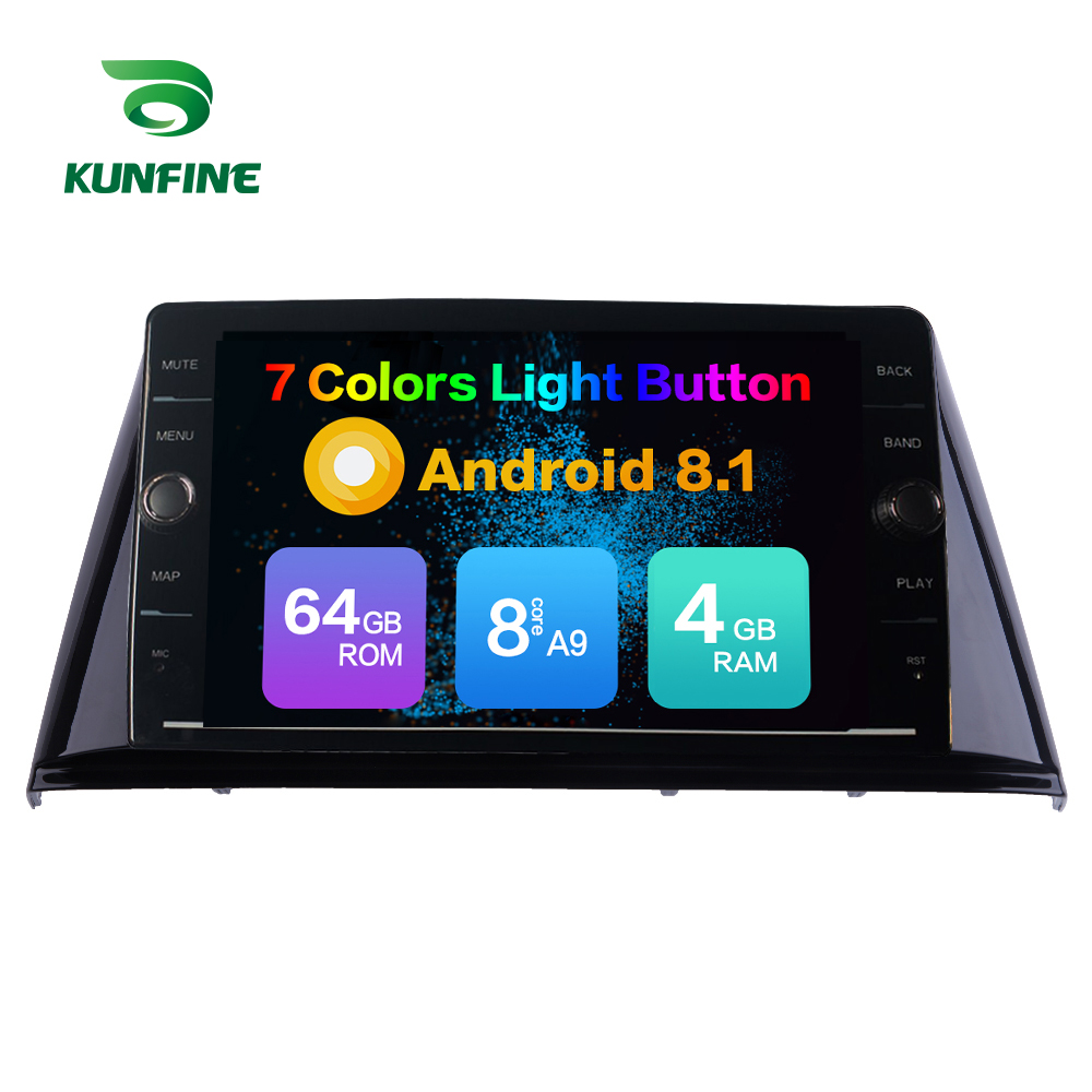 Octa Core 4GB RAM 64GB ROM Android 8.1 Car DVD <font><b>GPS</b></font> Player Deckless Car Stereo for <font><b>Peugeot</b></font> <font><b>308</b></font> 2016 2017 Radio Unit Device 4G image