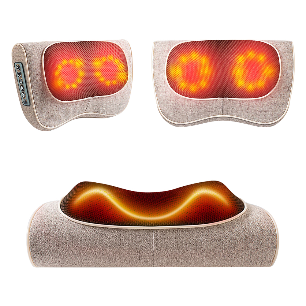 Six Buttons Neck Healthy Massageador Infrared Heating Neck massage Pillow Multifunctional Shiatsu Pillow Device