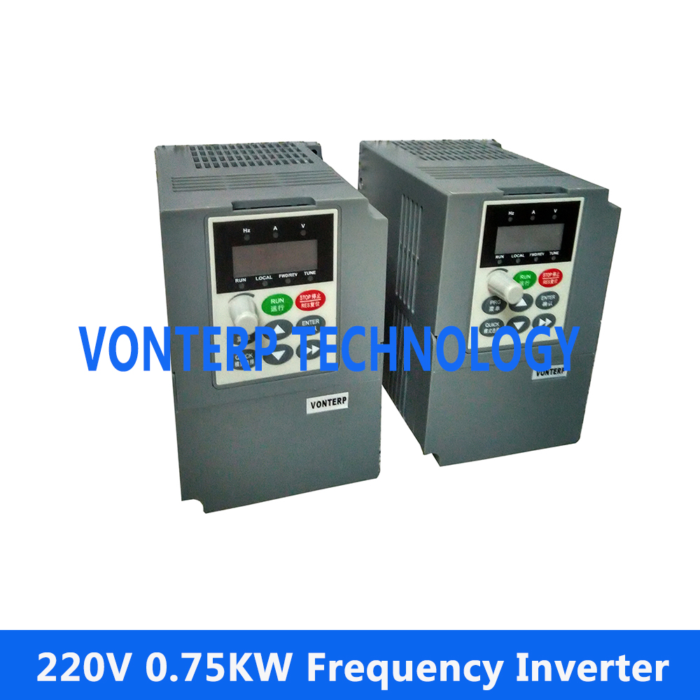 все цены на mini AC drive, variable frequency converter, VFD, VSD, frequency inverter 0.75KW 1 phase 220v input and 220v 3 phase output онлайн